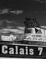 P&O Ferry, Calais, France - b&w (2geephotography) Tags: blackandwhite bw france ferry boats ship po calais canon5dmkiii 2geephotography