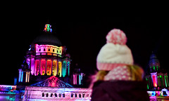 christmas lights (tony/m) Tags: christmas night lights cityhall illuminations belfast