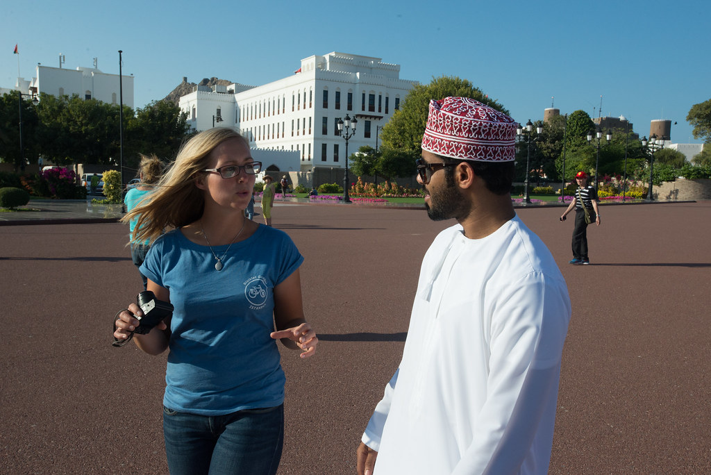 Claire and Hamed at the Palace