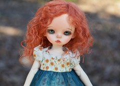 redhead :) FA on Etsy (French Bulldog Works) Tags: red anne doll head redhead wig tiny mohair 17 bjd custom soom abjd fa fs balljointed balljointeddoll imda soomemporium