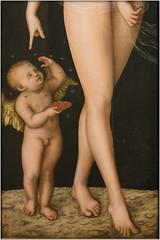 Lucas Cranach: Venus and Amor stealing honey (piktorio) Tags: detail berlin germany painting legs bees honey historical gemäldegalerie lucascranach piktorio