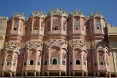 Faade du Palais des Vents Japur (Yenbay) Tags: city travel windows india history tourism architecture asia poetry culture landmarks highlights walls inde moucharabieh marvels japur palaisdesvents
