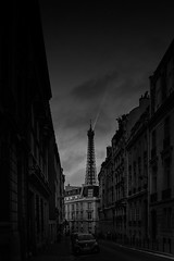 Paris Amiral Hamelin Street 1 | France (Uwe Meis & Sascha Hojzakowa) Tags: street city white black paris tower art love monochrome architecture jack photography nikon europe cityscape fine cities cityscapes eiffel flipper streetview nikond800