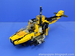 b9205 (alanyuppie) Tags: lego transformer speedboat helicopter changer triple mecha mech