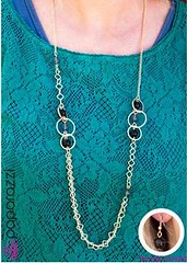 5th Avenue Black Necklace K2 P2120A-2