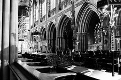 To Light (leftyguk) Tags: blackandwhite religion lichfield lichfieldcathedral canon400d canonefs24mmstm