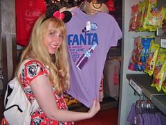 Fanta grape tshirt (Elysia in Wonderland) Tags: world vacation usa holiday club america lucy orlando epcot cool purple cola florida top tshirt disney september drinks coca grape fanta elysia 2014