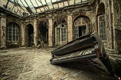 broken keys (Szydlak Szk) Tags: old roof urban music abandoned broken dark keys darkness angle image wide piano palace eerie creepy spooky forgotten urbanexploration exploration derelict forlorn urbex pałac szk verlassene pianino opuszczony szydlak