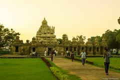Temple (BALAJI SEETHARAMAN) Tags: temple evening religion kanchipuram kailasanathar canon600d
