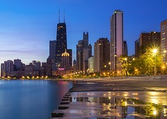 (Brian Koprowski) Tags: city morning urban chicago seascape skyline sunrise illinois downtown apartments cityscape pentax lakemichigan greatlakes bluehour hancock condos residence k5 windycity briankoprowski bkoprowski