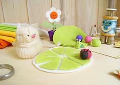 Vamos l? (BoniFrati) Tags: cute diy craft felt feltro coaster tutorial pap molde bonifrati portacopos