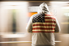 Subway. (arturii!) Tags: longexposure trip travel blue red usa white newyork man beauty speed america train wow subway stars grey back hoodie amazing nice interesting movement waiting holidays tour superb metro manhattan stripes flag awesome great tube platform route stunning viatge vacations impressive gettyimages borought arturii arturdebattk canonoes6d