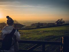 Sunset Closure (Stephen Higgins Photography) Tags: light sunset england girl walking landscape outdoors countryside emma thoughtful rambling eastyorkshire yorkshirewoldsway