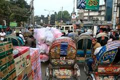 Bangladesh - Rickshaw 5941 (blackthorne57) Tags: dhaka trafficjam bangladesh cyclerickshaw rickshawart
