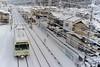 Snow Town and Eizan Densha (1973-pinball) Tags: winter snow japan train kyoto cosina voigtlander kurama sakyoku eiden xe2 colorskopar25mmf4p eizandensha eizanrailway ゆる鉄 yurutetsu