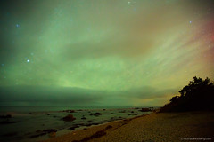 Northern Light over Fr (Nicklas Westberg) Tags: light sky seascape beach nature water night stars faro star gotland fr northenlights northenlight nicklaswestberg