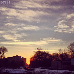 Sunset Down The Rails (17/03/2014) (Matthew Trevithick Photography) Tags: sunset ontario canada london march afternoon matthew traintracks canadianpacific cp cprail iphone 2014 maitland trevithick matthewtrevithick mtphotography instagram