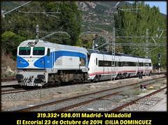 idn4511 (ribot85) Tags: railroad train tren trenes trains railways regional escorial ferrocarril renfe elescorial 319 598 3193 integria 598011 319332