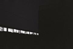 Train (Marlena F.) Tags: blackandwhite berlin night analog train darkness traffic minolta midnight sbahn messe westend charlottenburg analogical schwarzweis