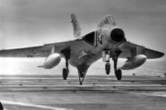 VF-141 F4D-1 Skyray BuNo 133310, NF-212 (skyhawkpc) Tags: airplane aircraft aviation navy 1956 douglas naval usnavy usn skyray ussbonhommerichard cva31 133310 f4d1 145072 vf141ironangels nf212