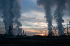 Power Sunrise (Frank van Eck) Tags: sunrise power powerlines onthemove powerpoles