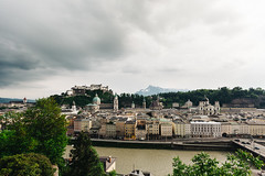 Old Town Salzburg (huangb) Tags: travel music mountain alps salzburg castle rain clouds canon river landscape photography austria europa europe flickr cityscape cloudy mark hometown iii ngc historic wanderlust adventure explore elite 5d oldtown mozart worldtravel travelphotography 1635mm