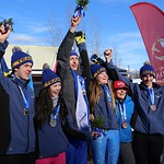 Canada Winter Games Team BC at Medal Ceremony PHOTO CREDIT: Steve Fleckenstein