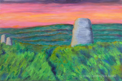 Maya Sun IV (10b travelling) Tags: sunset archaeology sunrise painting ruins maya guatemala tikal oilpainting centralstmartins 2015 carstentenbrink cmtbpainting objectspaintingoilpainting