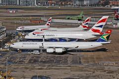 ZS-SNG Airbus A340-642 South African Airways Heathrow 17th February 2015 (michael_hibbins) Tags: