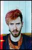 ( Digital Denial ) Tags: pink orange selfportrait colour analog 35mm diy tattoos punx bandana expiredfilm