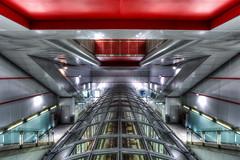 Lingotto Space (fotopierino) Tags: red urban station canon torino metro mark space iii tube 5d mm rosso stazione metropolitana 1740mm hdr citt vetro lingotto geometrie fermata fotopierino