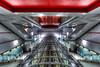 Lingotto Space (fotopierino) Tags: red urban station canon torino metro mark space iii tube 5d mm rosso stazione metropolitana 1740mm hdr città vetro lingotto geometrie fermata fotopierino