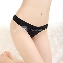SJ  женской низкой талией сплошной цвет сексуальные стринги