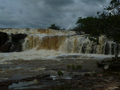 Ireng River Cascading Down the Orinduik Falls