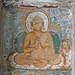 Bouddha assis peint sur la voute (Ajanta, Inde)