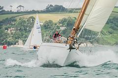 Talisker Mhor crossing the start line (Matchman Devon) Tags: rdyc classic regatta royal dart yacht club talisker mhor mcgruers 2016