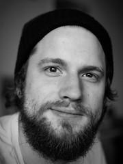 Jorge Gonzo (Simon Neutert) Tags: portrait man male men portraits beard lumix soft olympus panasonic fisher mann 45mm g7 g70 mnnlich lumbersexual