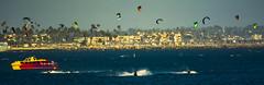 Summer, Long Beach (beachpeepsrus) Tags: surfer kites beach pier skis flight