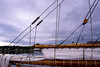 Storms Coming (Sonia Argenio Photography) Tags: atlanticocean bluenose2 bluenose flickr flickrsoniaargenio novascotia soniaargenio white wood approachingstorm atlanticcanada blue bolts buildings buoys canada canvas clouds cloudy gray homes land line lunenburg mast nuts rope sail sailboat ship sky storm ties water flickrsoniasgallery