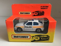 Matchbox UK - MB8 Opel Kadett / Vauxhall Astra - Police Car (firehouse.ie) Tags: mb175 mb8 cops constabulary patrol vehicles vehicle automobiles automobile emergency service department dept pd policja policie polizia polizei policia polis gm vauxhall kadett astra opel cars car police toys toy models midel scale miniature diecast matchbox policecar