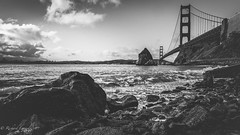 Moody Golden Gate Bridge (Rich Lonardo Photo) Tags: ocean sanfrancisco california bridge white black west photography golden bay coast gate baker pacific fort bridges goldengatebridge area northern sausalito bayareaphotography