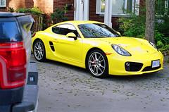 (<mmb>) Tags: auto ontario film car yellow analog 35mm gold automobile kodak ottawa contax porsche cayman rx gold200