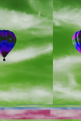 geometrized balloon in Z clouds (johngpt) Tags: clouds hotairballoon hotairballoons hss cirrostratus ef70200mmf28lisusm canon40d sliderssunday