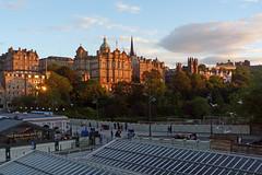 Edinburgh evening (1) (Taysider64) Tags: edinburgh oldtown city urban summer evening station waverleystation waverleybridge