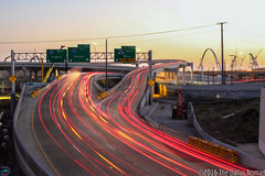 Keep Goin' Dallas (The Dallas Nomad (on Hiatus)) Tags: downtown dallas texas dfw mixmaster i30 infrastructure interchange freeway highway sunset night architecture construction road work dusk