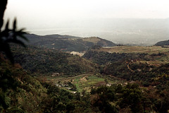 33-112 (ndpa / s. lundeen, archivist) Tags: nick dewolf nickdewolf color photographbynickdewolf 1970s 1972 fall film 35mm winter republicofchina taiwan taiwanese china chinese 1973 landscape rural hills mountains easterntaiwan field fields terraces terraced 33 reel33