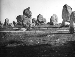 Standing stones in circle (National Library of Ireland on The Commons) Tags: thomasholmesmason thomasmayne thomashmasonsonslimited lanternslides nationallibraryofireland stonecircle stones standingstones clues megalithic toughie