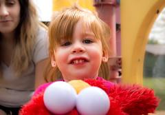 Elmo Fan (Chloe.Frick) Tags: park portrait girl closeup canon fun play bright elmo happiness sesamestreet allentown pennyslvania rayvyn
