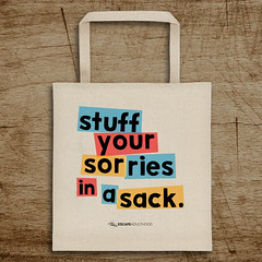 Stuff Your Sorries in a Sack Tote Bag (Kim & Jason) Tags: bag quotes stuff sack tote seinfeld sorries
