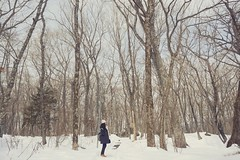 (siew_wei) Tags: winter snow tree japan forest alone fuji selfie